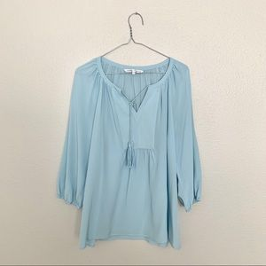 Annie Griffin Blue Silk Blouse